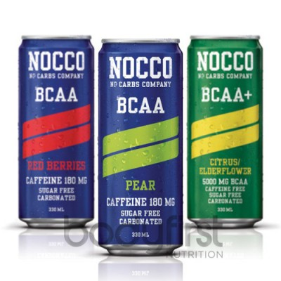 Nocco Zero Carb Bcaa Drink 1 X 330ml Bodyfirst Nutrition